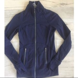 Lululemon Full Zip Jacket- Navy Blue- Size 4